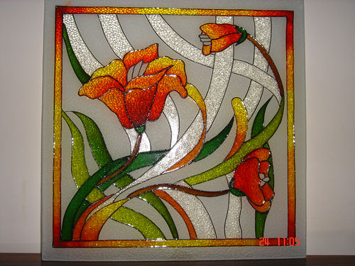 Fantastic glass painting ideas designs and pictures for Mural glass painting