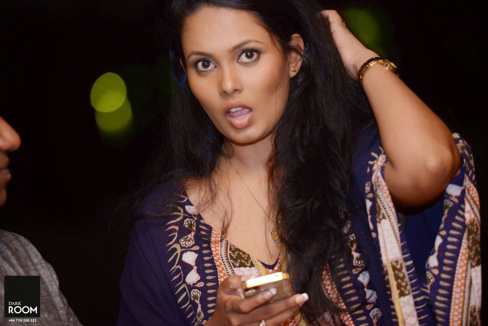 Menaka Peiris open mouth