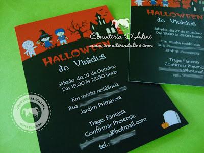 convite infantil halloween