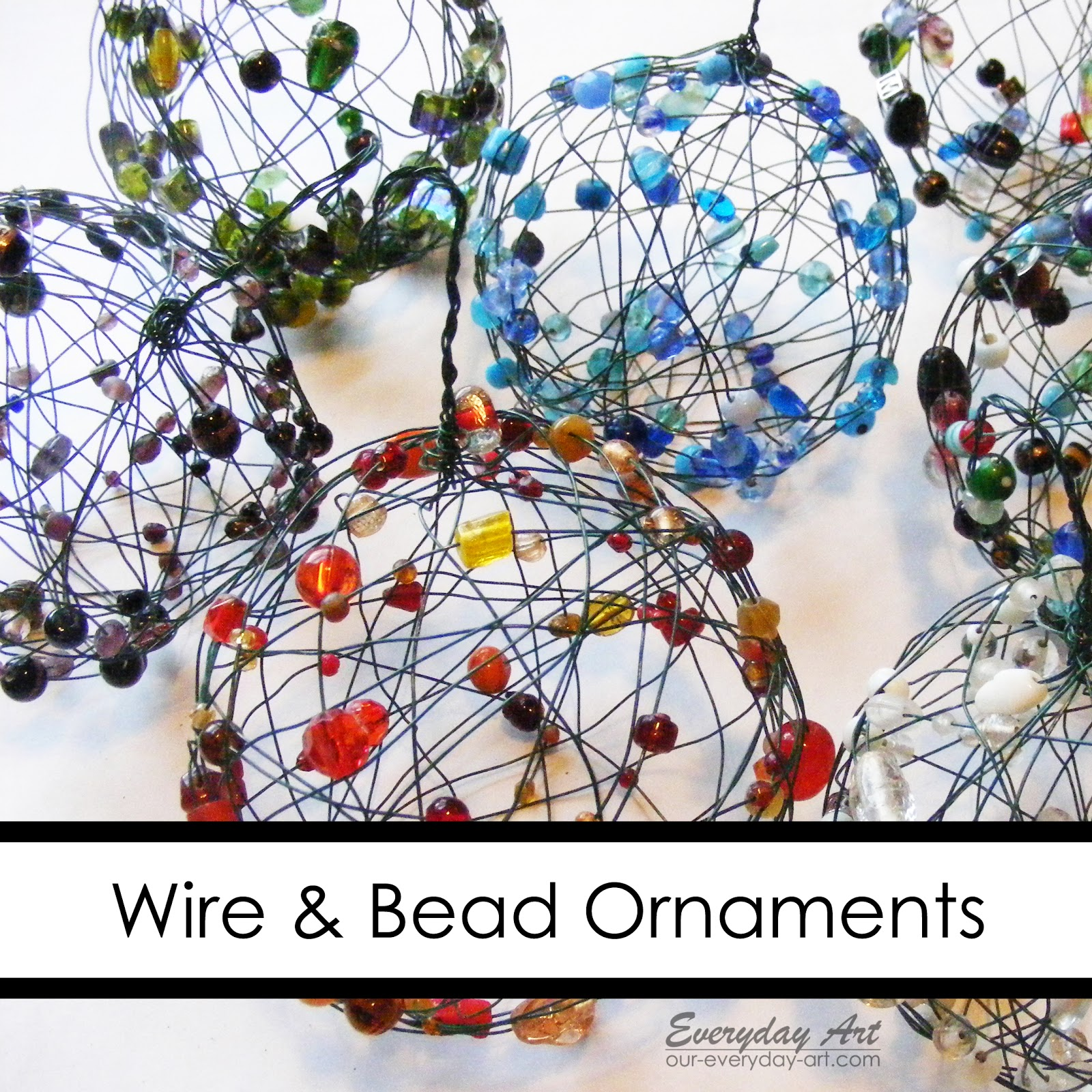 Decorate Christmas Tree With Beads: Everyday Art: Wire And Bead Ornaments