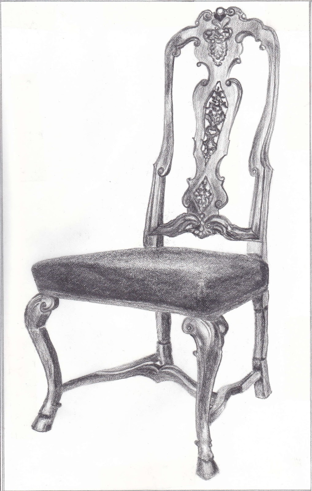 Interior design history of furniture drawing for Chair design drawing