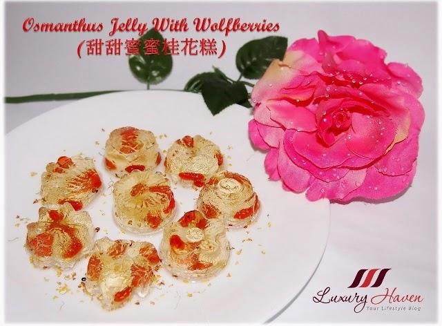 chinese new year osmanthus jelly dessert recipe