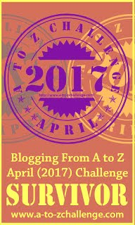 Survivor April 2017 AtoZchallenge