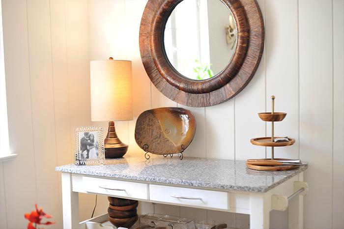 DIY Breakfast Nook White Desert Modern Wood Paneling - Marble Island