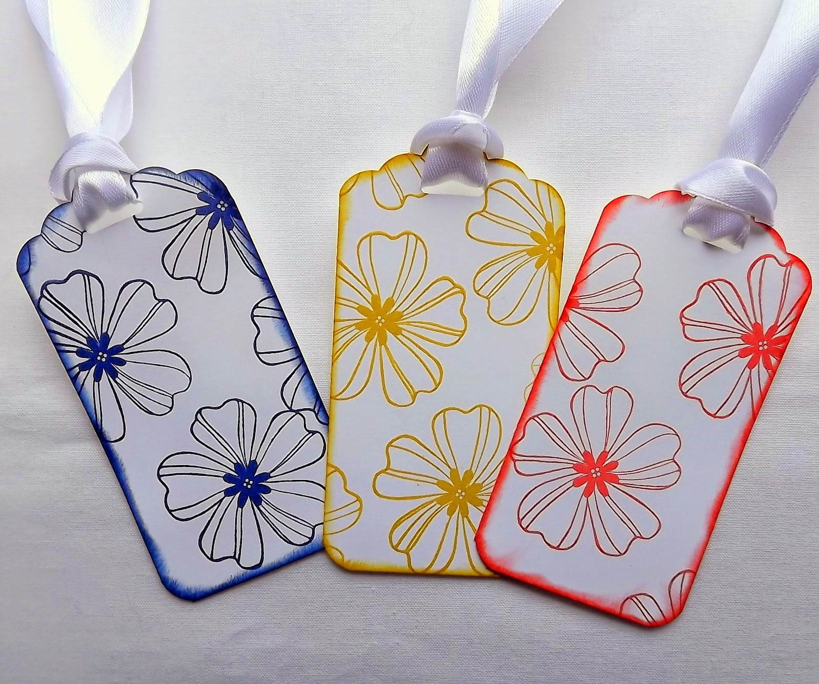 Stampin Up! Scalloped Tag Topper and Flower Shop