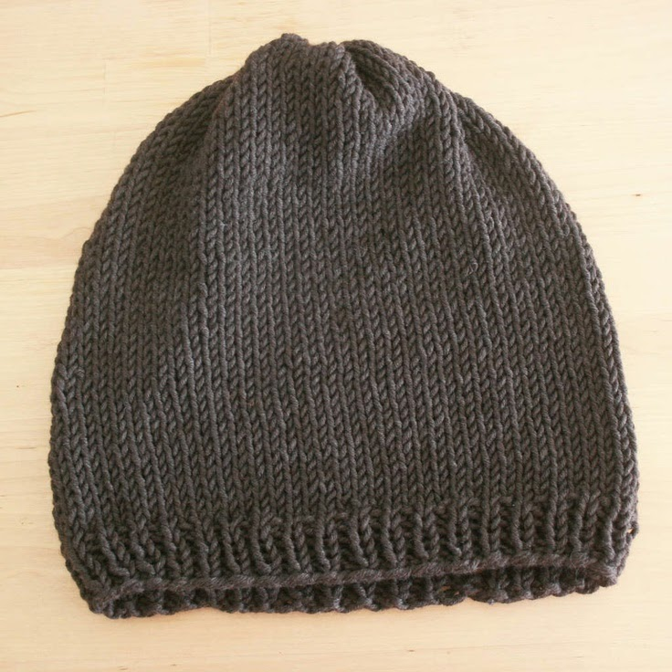 http://www.instructables.com/id/Easy-Knit-Hat-Pattern/