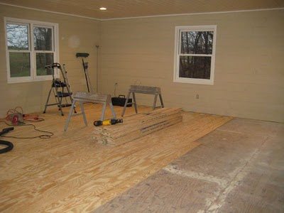 Cheap flooring diy idea nooshloves for Affordable basement flooring