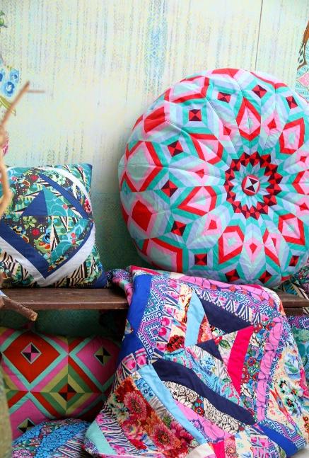 Honey Bun Pouf Cushion Idea Abbie Brace Textile Surface Design Gorgeous Amy Butler Pouf Ottoman
