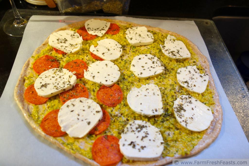 ... Feasts: Fresh Tomato Pesto & Fresh Mozzarella Pizza (Pizza night