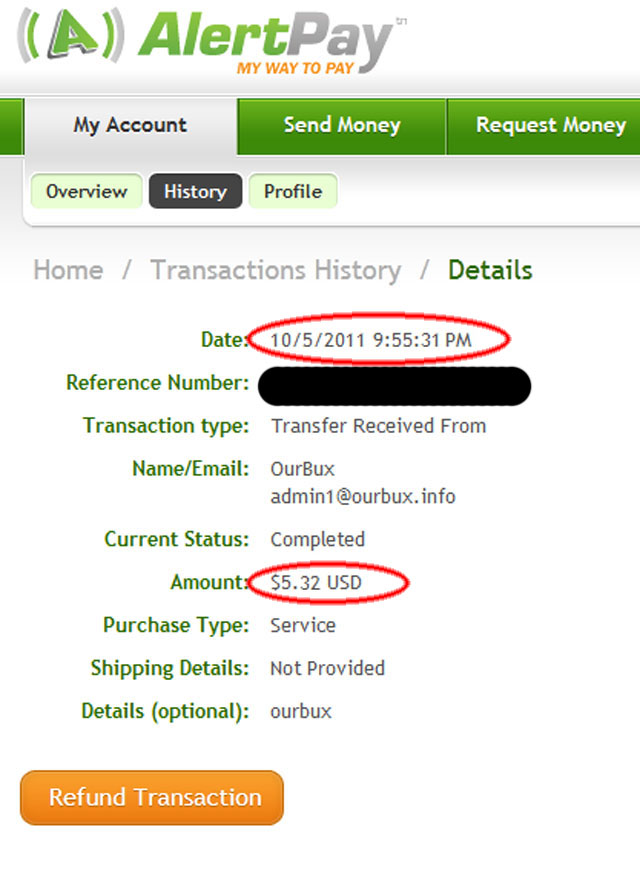 My Second Payment from ourbux 5.32$ dated 5/10/2011 Ourbux-pay2