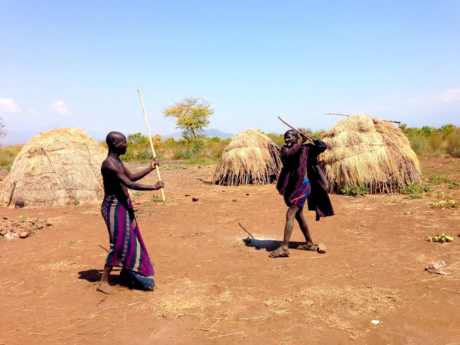 Ritual stick fighting of the Mursi Tribe