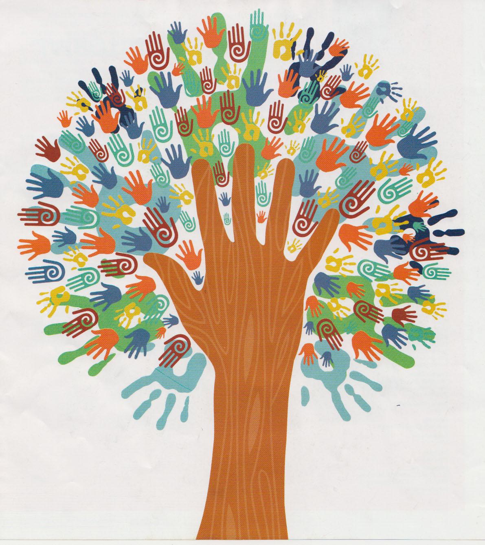 Soy rbol el rbol de todos rbol de huellas dactilares - Papel pintado ramas arbol ...