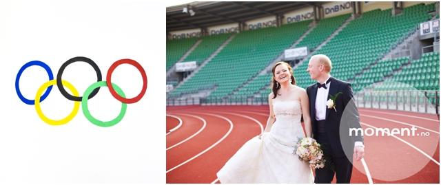 Bryllupsfotografering bislett stadion ingvild tore