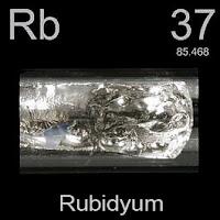Rubidyum Elementi Simgesi Rb