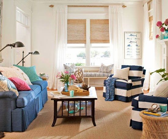 Color Throughout : Using a neutral palette throughout a living room ...