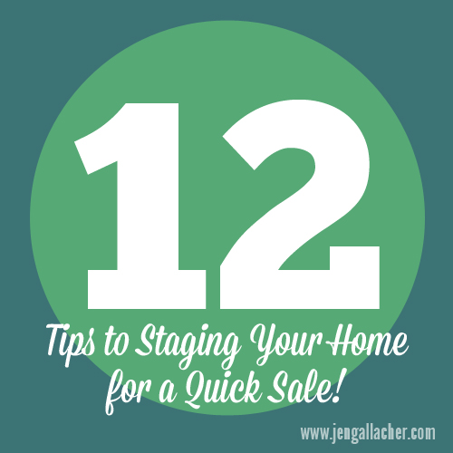 Tales of a tract home tips for staging your home to sell for Tips for staging a house to sell
