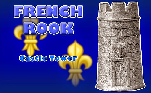 Battle of Agincourt Medieval French Rook Chess Piece