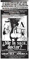 ¿Aviso de 'Me la saca, doctor?' publicado en 1987 en los diarios porteños (click para agrandar)