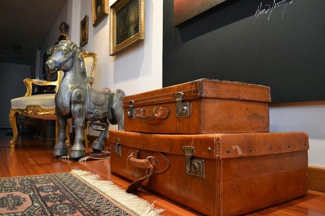 maletas de cuero para decoracion y guardar cosas