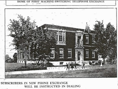 Boston Globe photo of New England Telephone & Telegraph exchange building