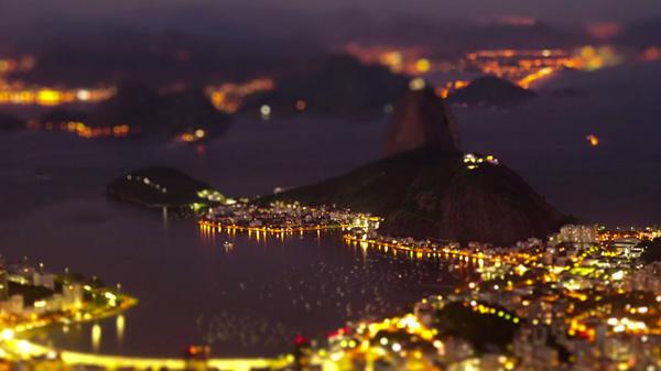 The City of Samba. Rio de Janeiro. Tilt Shift Video.