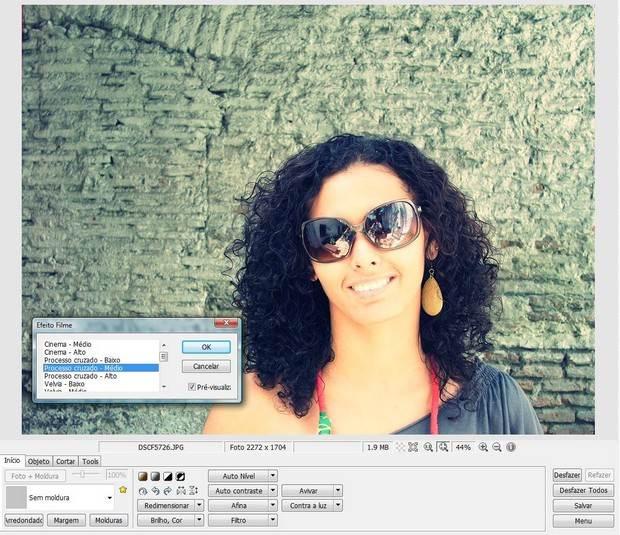 Efeito filme e Processo Cruzado do Photoscape
