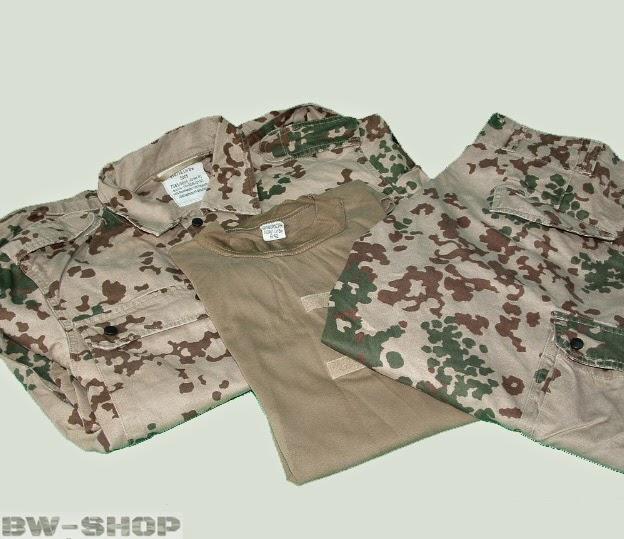 Original German armed forces set pant+jacket+t-shirt (+parka) BW desert tropic