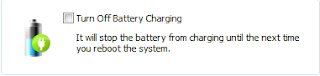 turn off battery charging