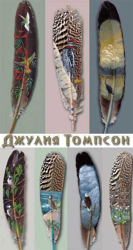 Картины на перьях-Джулия Томпсон