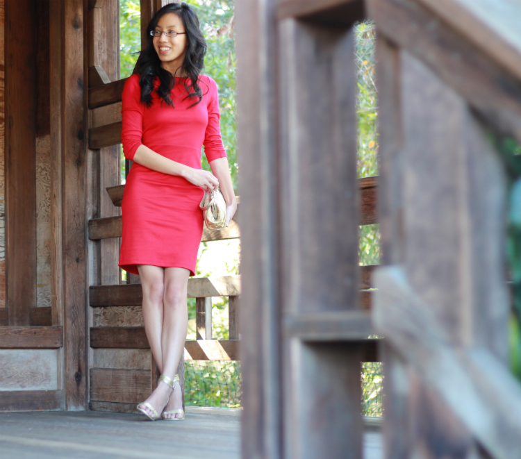 red gold lunar new year outfit inspiration idea