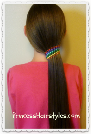 Waterfall Twist With Ribbon Ponytail