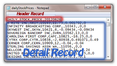 Populate header values to each detail records from a Flat File Source