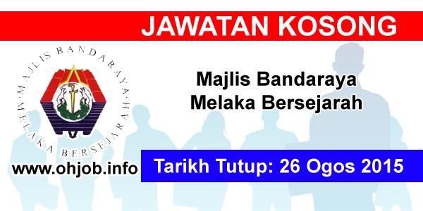 Jawatan Kerja Kosong Majlis Bandaraya Melaka Bersejarah logo www.ohjob.info ogos 2015