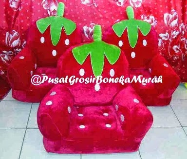 PUSAT GROSIR SOFA HANDLE STRAWBERRY - PUSAT GROSIR BONEKA MURAH