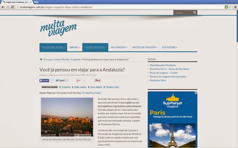 Andaluzia no blog Muita Viagem