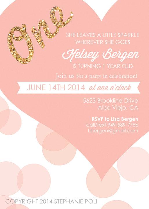 One Love Birthday Invitation