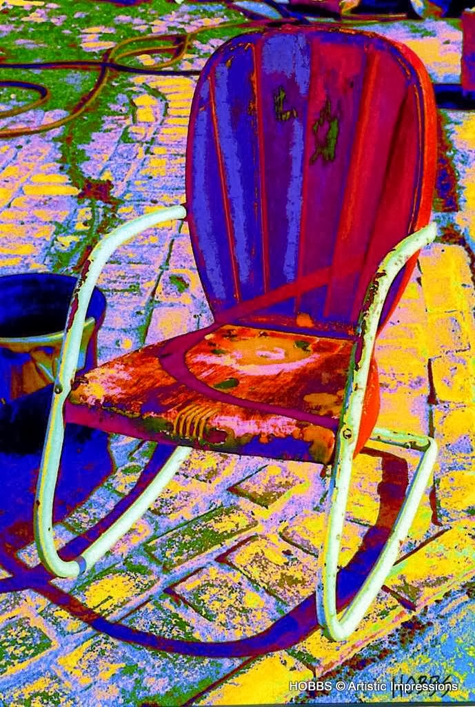 Chair in Backyard