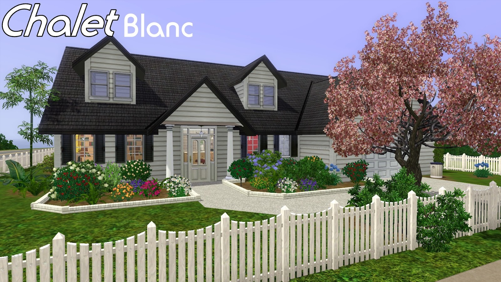 Sims 3 houses chalet blanc august 2012 for Minimalist house the sims 3