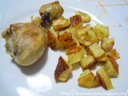 Eli e vero in cucina cosce di pollo alla diavola e patate in piatto crisp - Cucinare con il microonde whirlpool ...