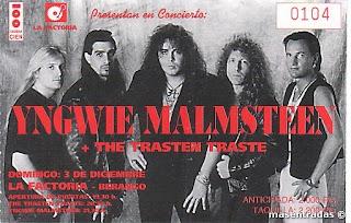 entrada de concierto de yngwie malmsteen