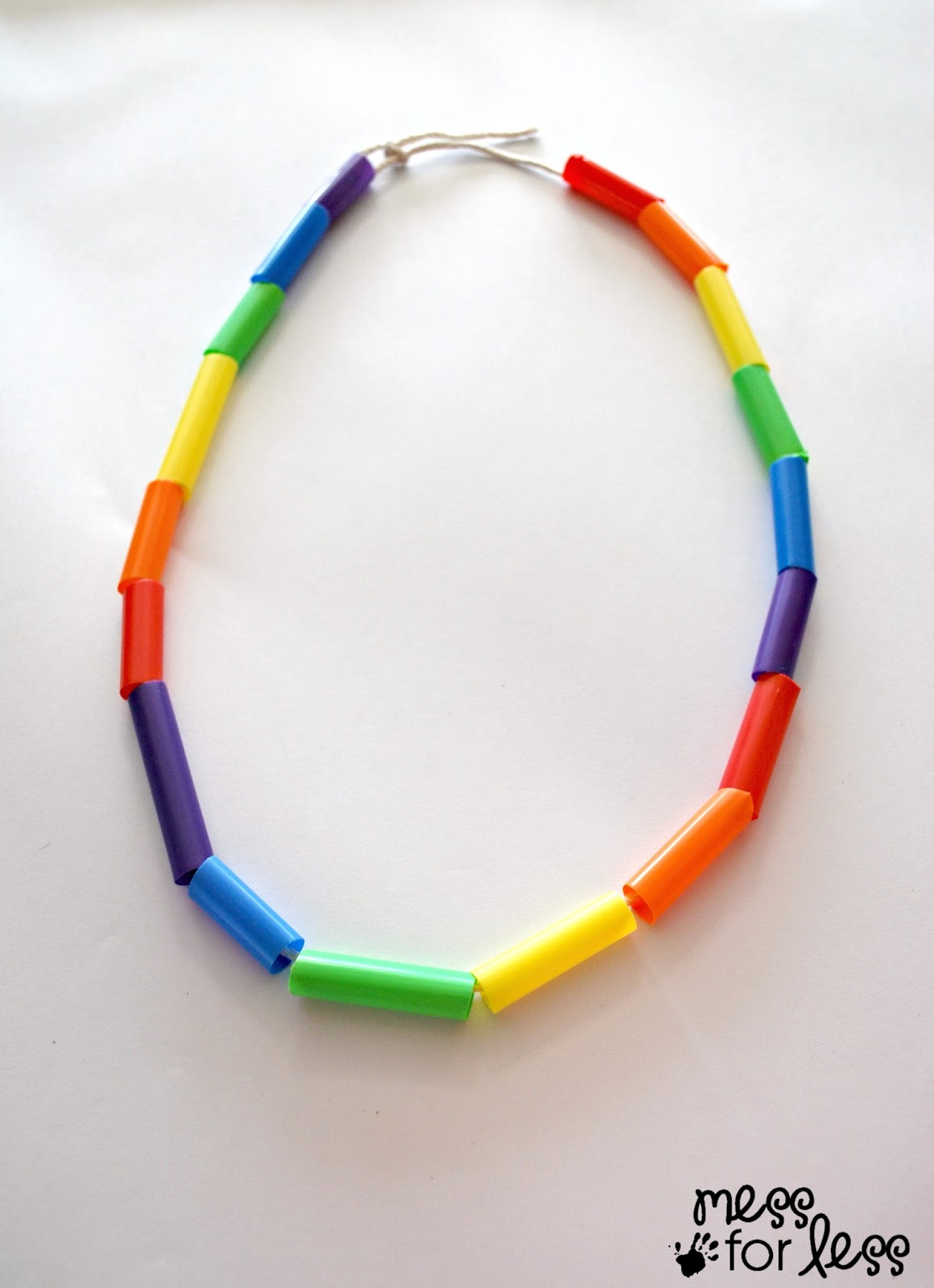 Fine Motor Straw Necklace on Fine Motor Skills Activities For Kids