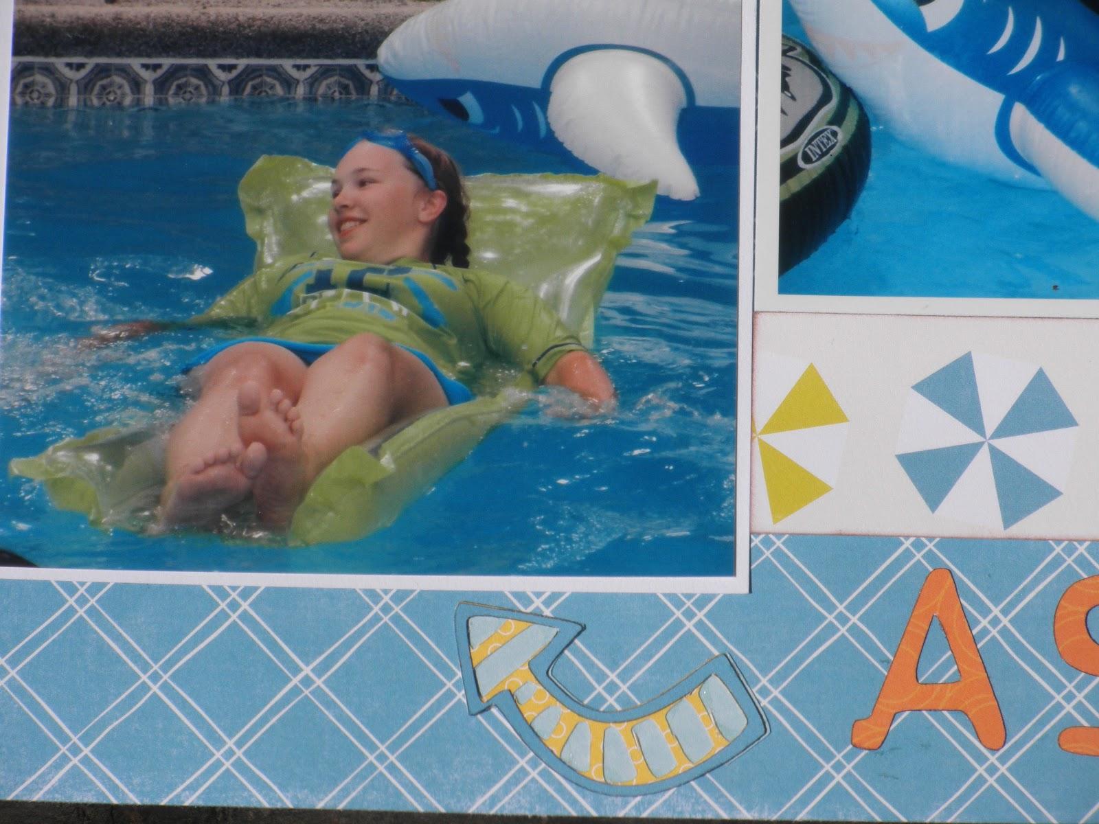 Cricut Crazy Scrapper: A Summer State of Mind layout
