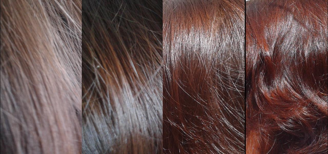 Evolución de mi pelo durante las 4 primeras hennas