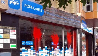 vandalismo contra la sede del pp las palmas gran canaria