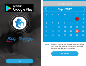 Parenting App of the Month - Baby Delivery Planner
