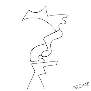 Zeichnung Bild / painting picture : gedankenlos / unthinking