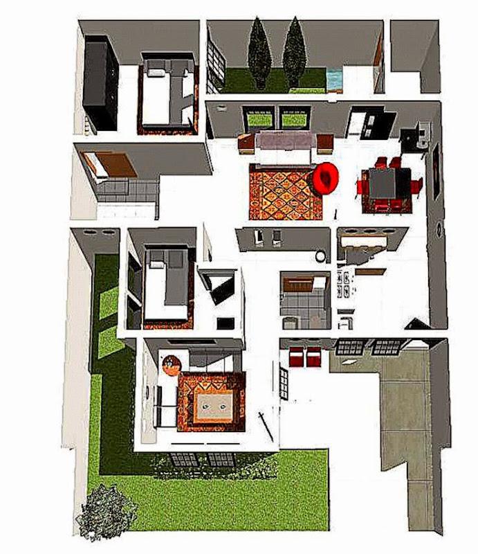 Gambar Denah Rumah Minimalis 1 Lantai Terbaru 2015  Lensarumah