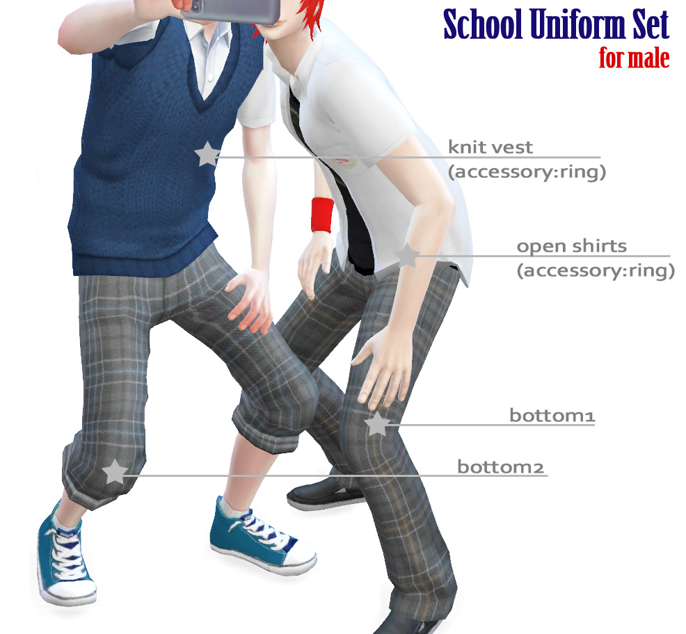 My Sims 4 Blog School Uniform Clothing Set For Males By
