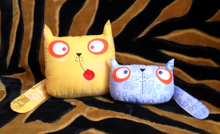 шьем подушки котов