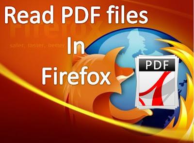 Firefox open Pdf